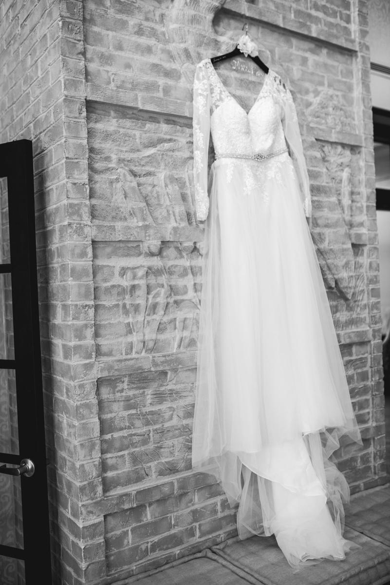Burgundy and Blush Winter Wedding | Long Sleeved Winter Wedding Gown