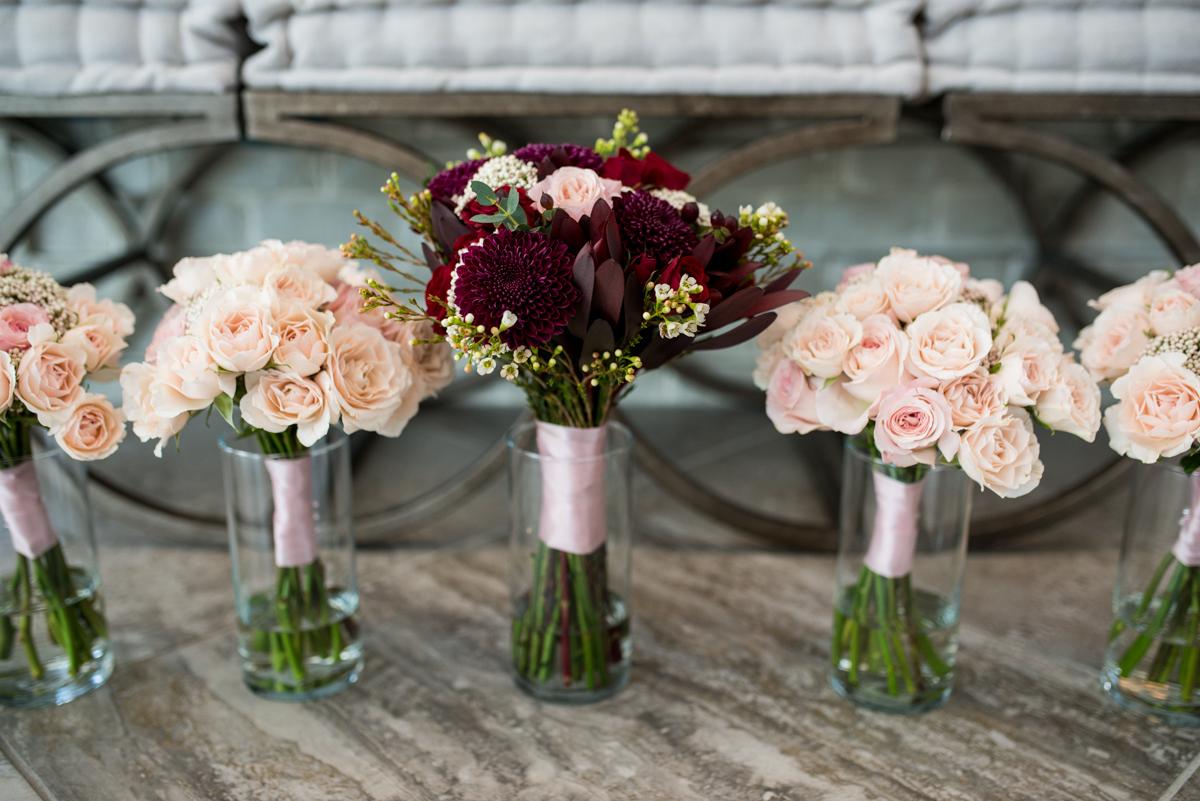 Burgundy and Blush Winter Wedding | Burgundy and Blush Wedding Flowers