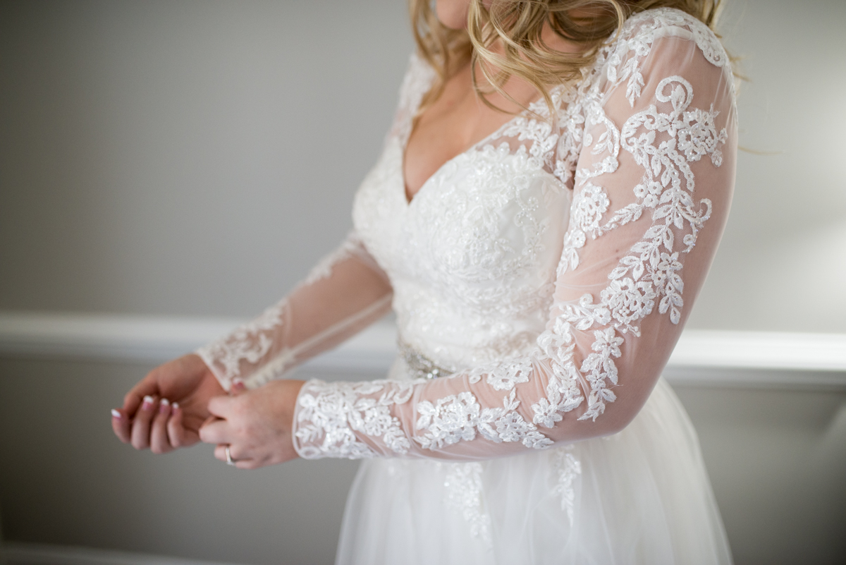 Burgundy and Blush Winter Wedding | Long Sleeved Winter Wedding Dress
