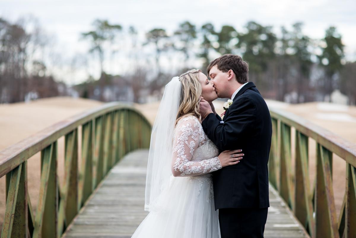 Burgundy and Blush Winter Wedding | Bride and groom portraits