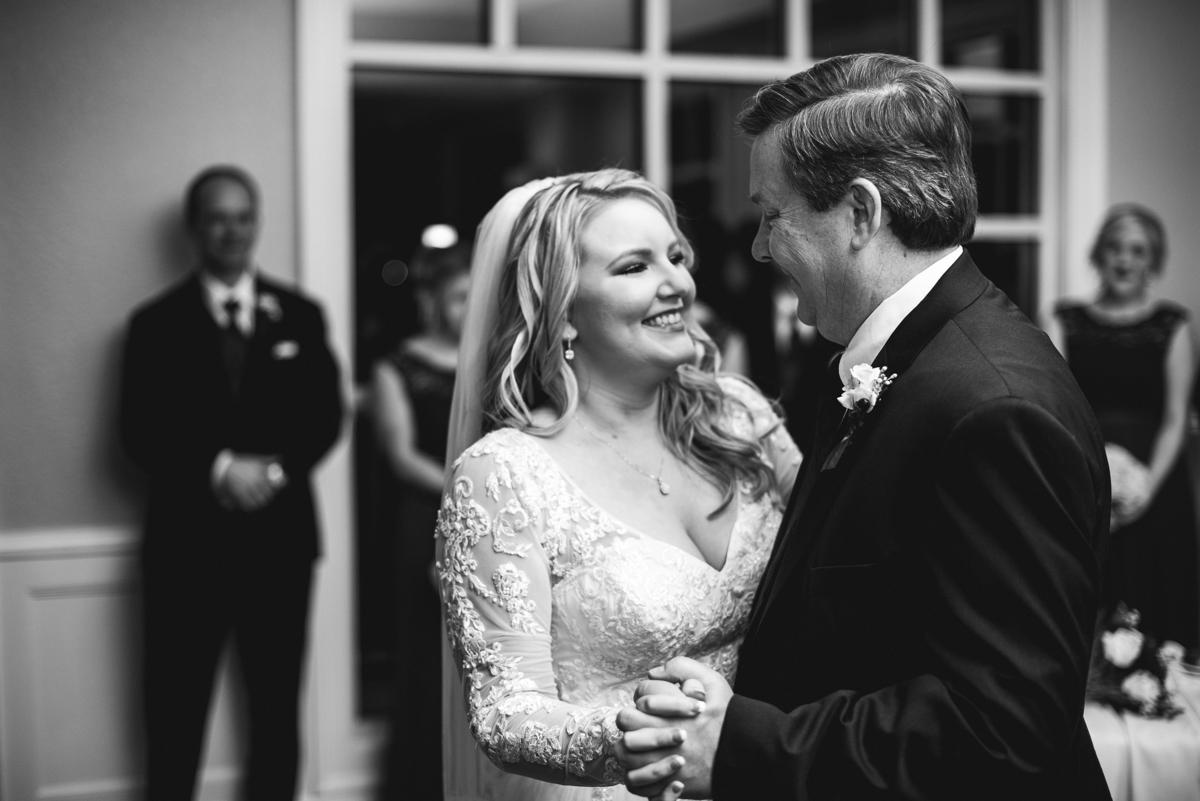 Burgundy and Blush Winter Wedding | Fatehr daughter dance
