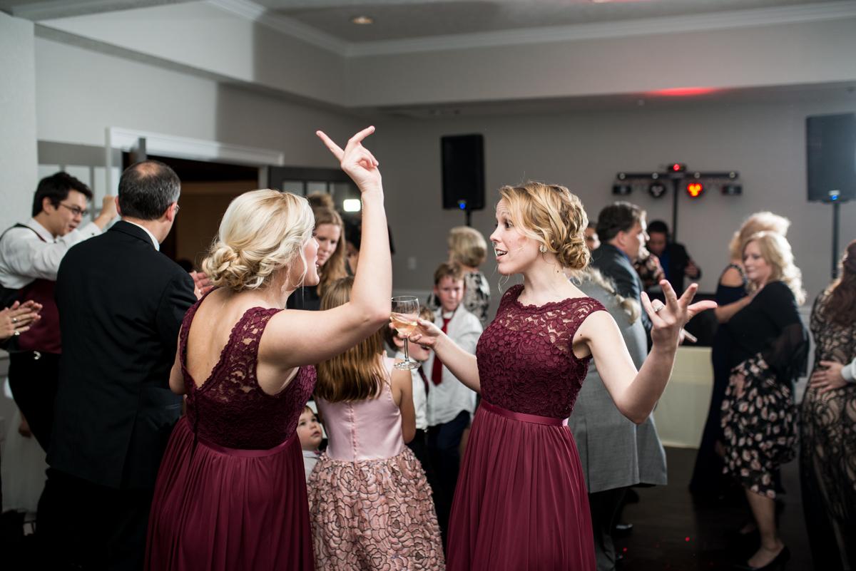 Burgundy and Blush Winter Wedding | Wedding reception dancing