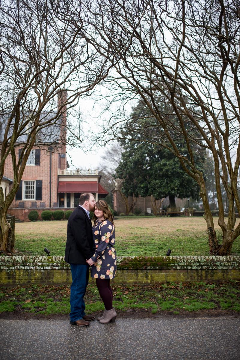 Quaint Historic Winter Engagement