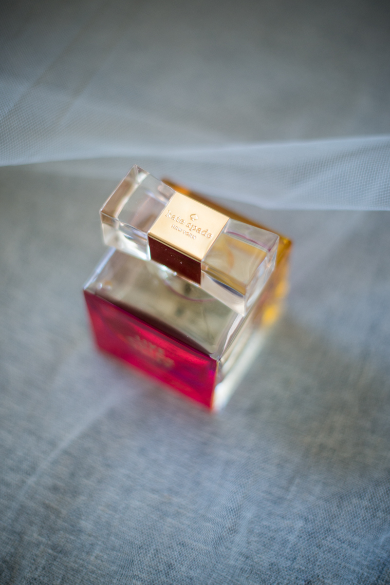 Navy, Wine, and Gold Charleston Wedding | Kate Spade Bridal Perfume