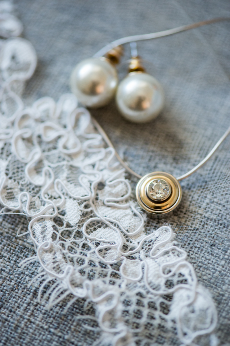 Navy, Wine, and Gold Charleston Wedding | Bridal Jewelry