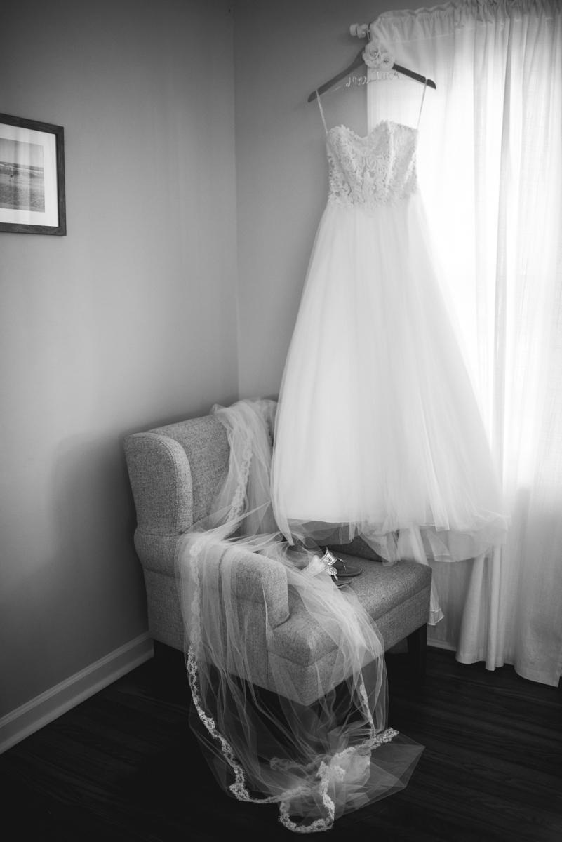 Navy, Wine, and Gold Charleston Wedding | Bride's Dress