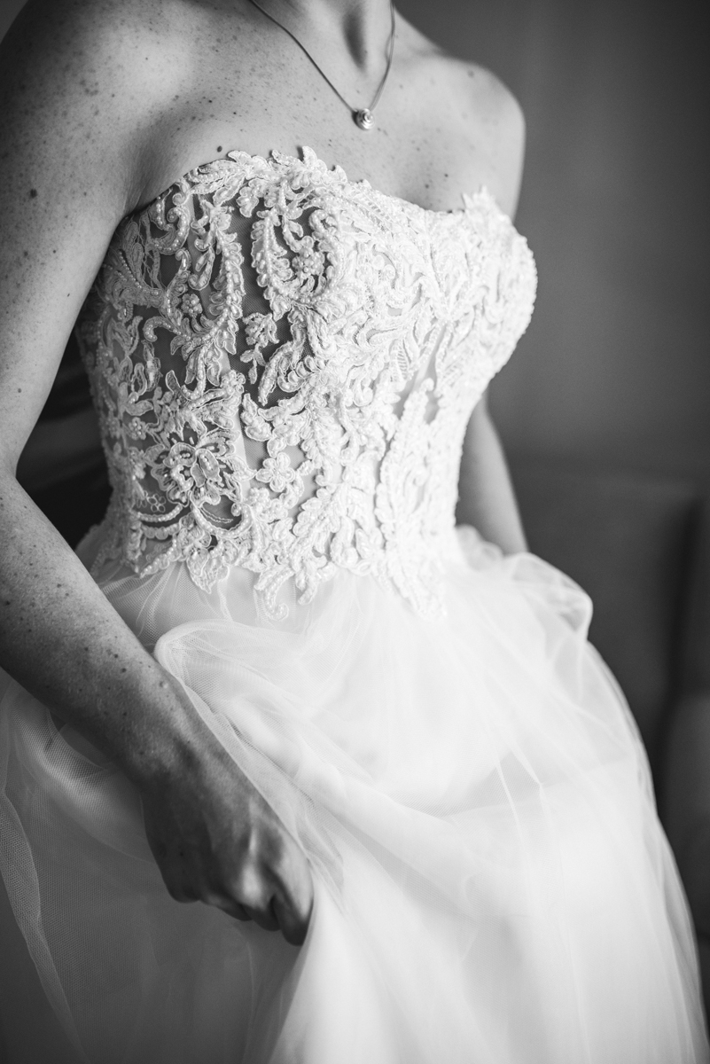Navy, Wine, and Gold Charleston Wedding | Bride's Lace Dress