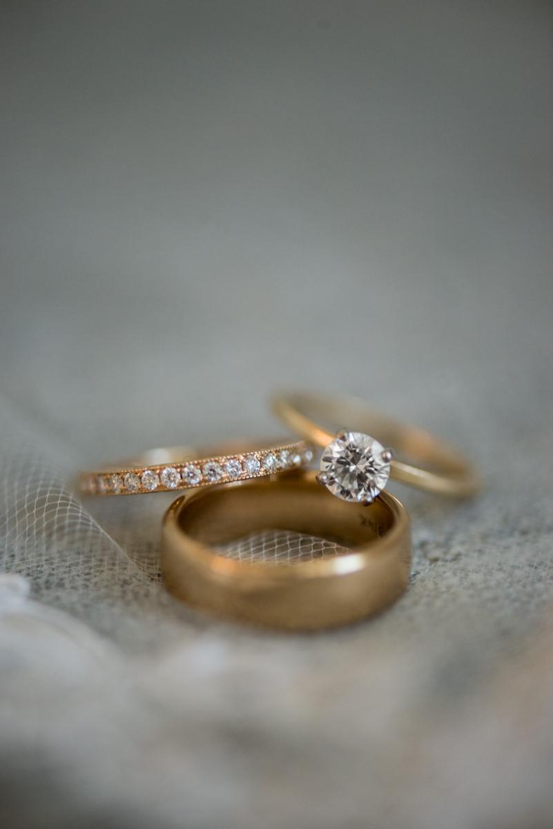 Navy, Wine, and Gold Charleston Wedding | Gold Wedding Rings