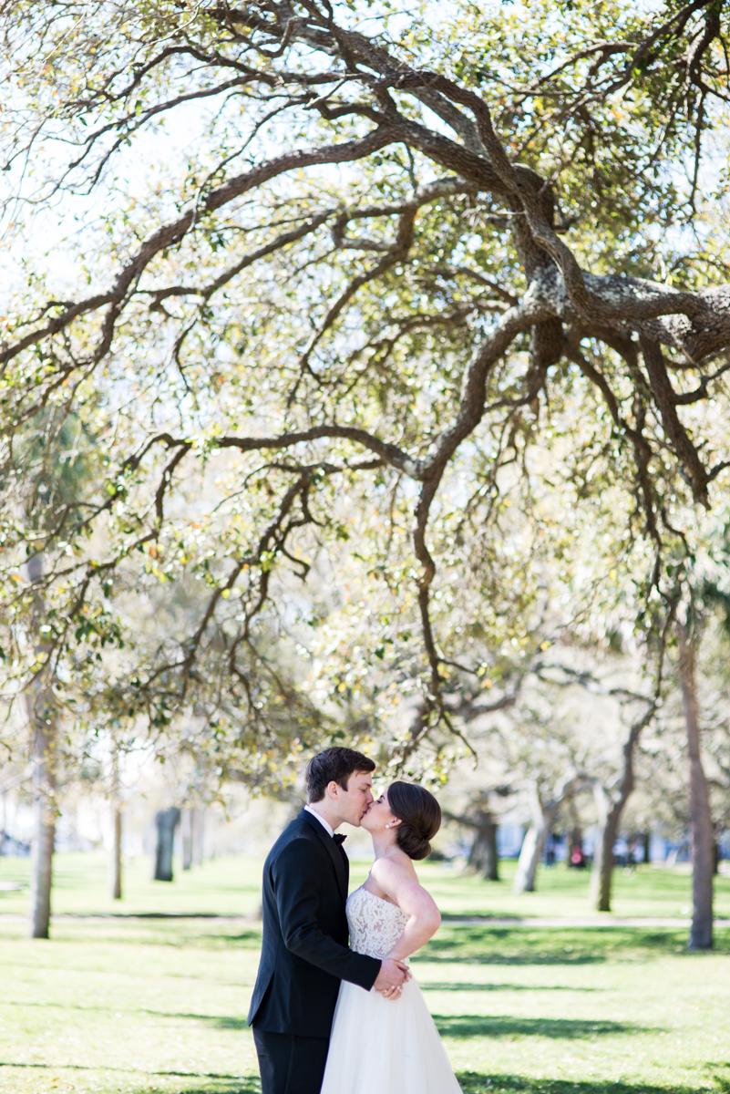 Navy, Wine, and Gold Charleston Wedding | Bride and Groom Portraits