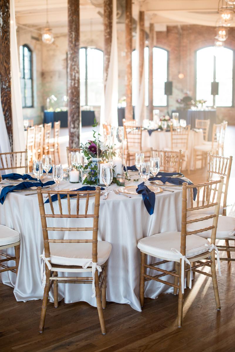 Navy, Wine, and Gold Charleston Wedding | Navy, Gold, and Wine Wedding Reception
