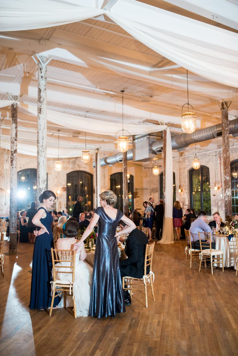 Navy, Wine, and Gold Charleston Wedding | Gold Draped Wedding Reception