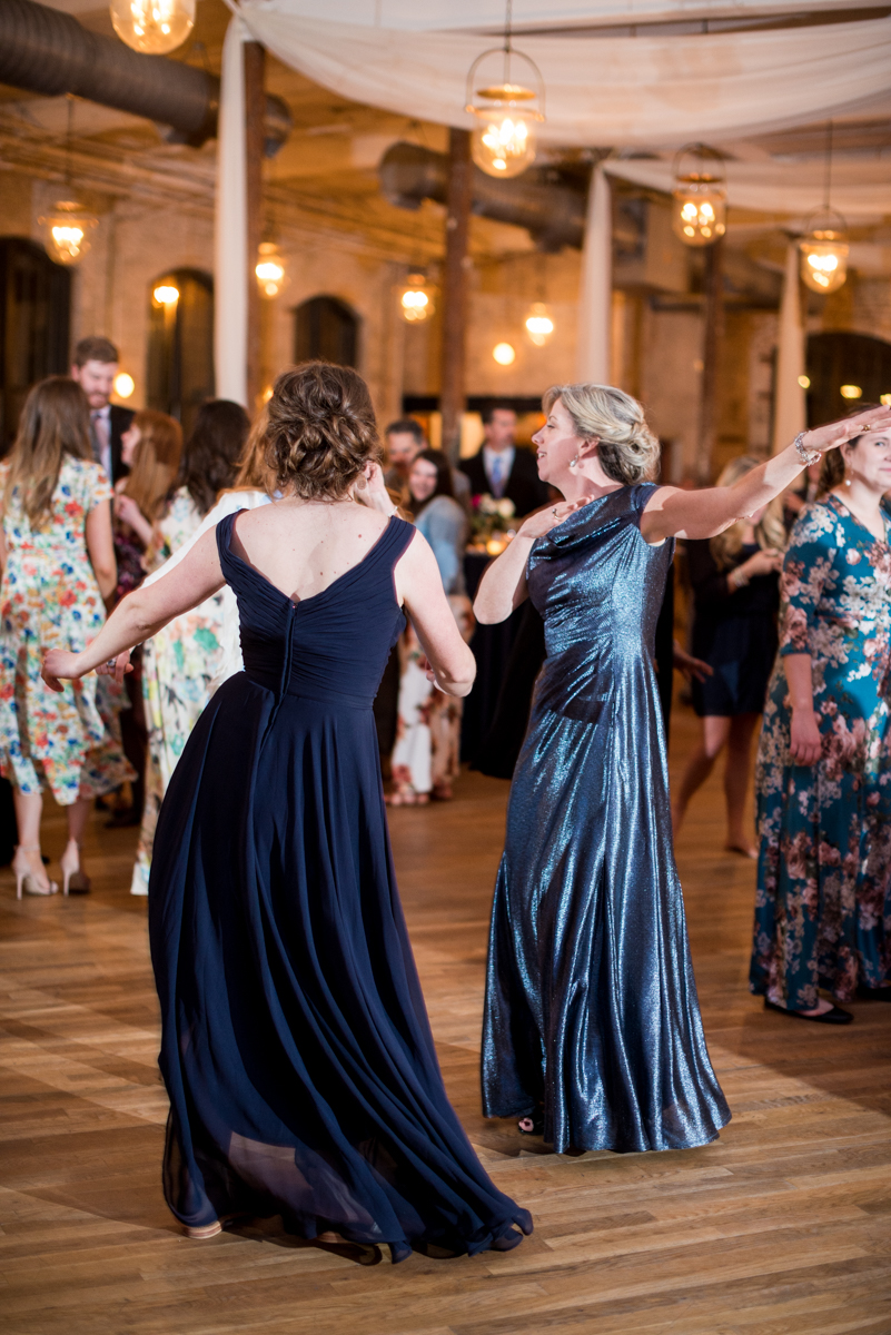 Navy, Wine, and Gold Charleston Wedding | Wedding Reception Dancing