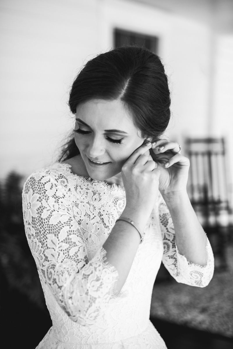 Elegant and Intimate Winery Wedding | Bride getting ready