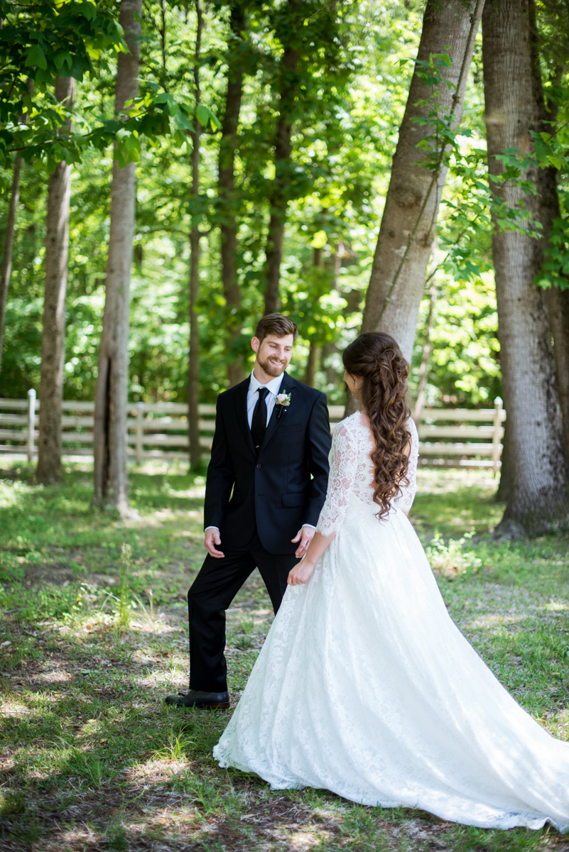 Elegant and Intimate Winery Wedding | Bride and groom portraits