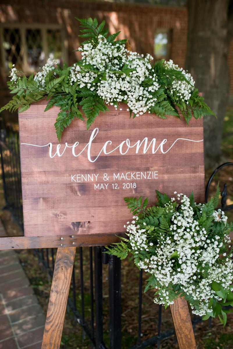 Elegant and Intimate Winery Wedding | Wedding welcome sign