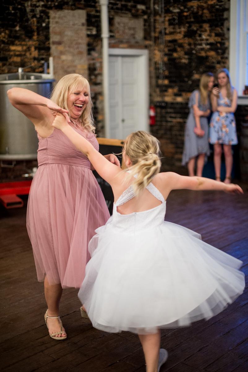 Elegant and Intimate Winery Wedding | Wedding reception dancing