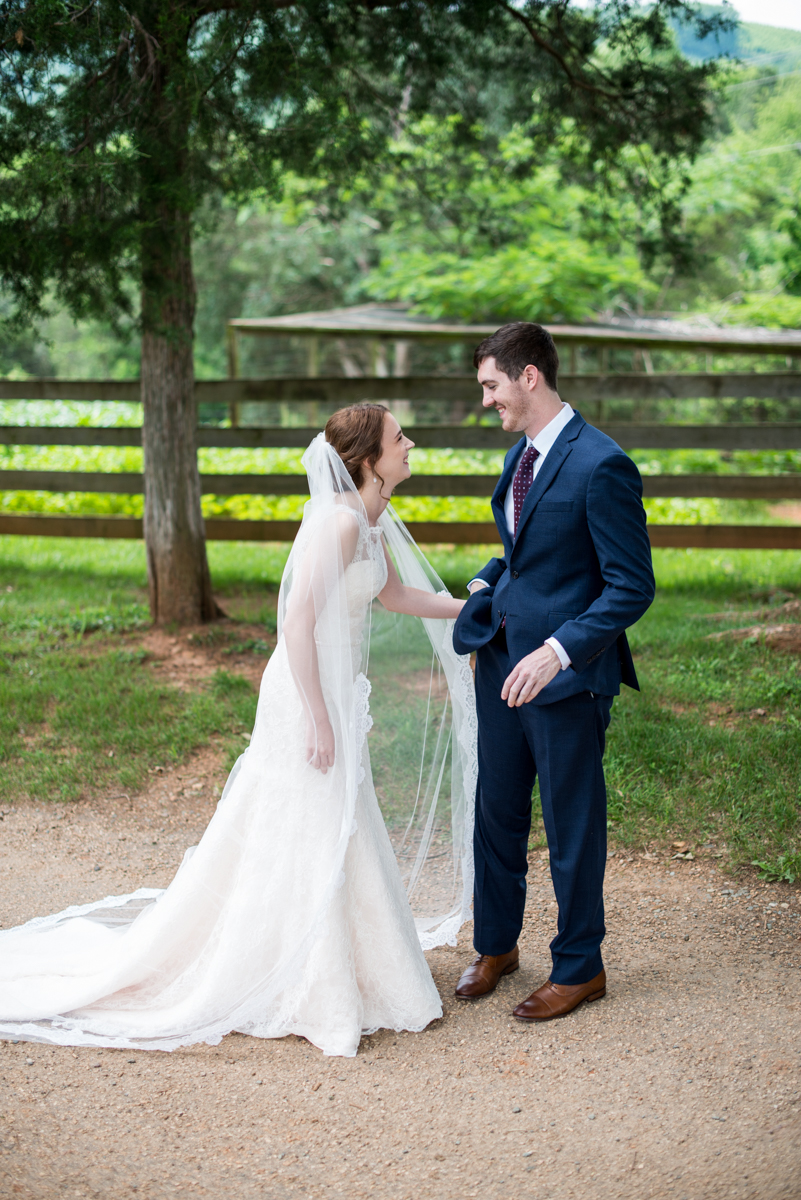 James Monroe Highland Wedding in Charlottesville | Bride and groom first look