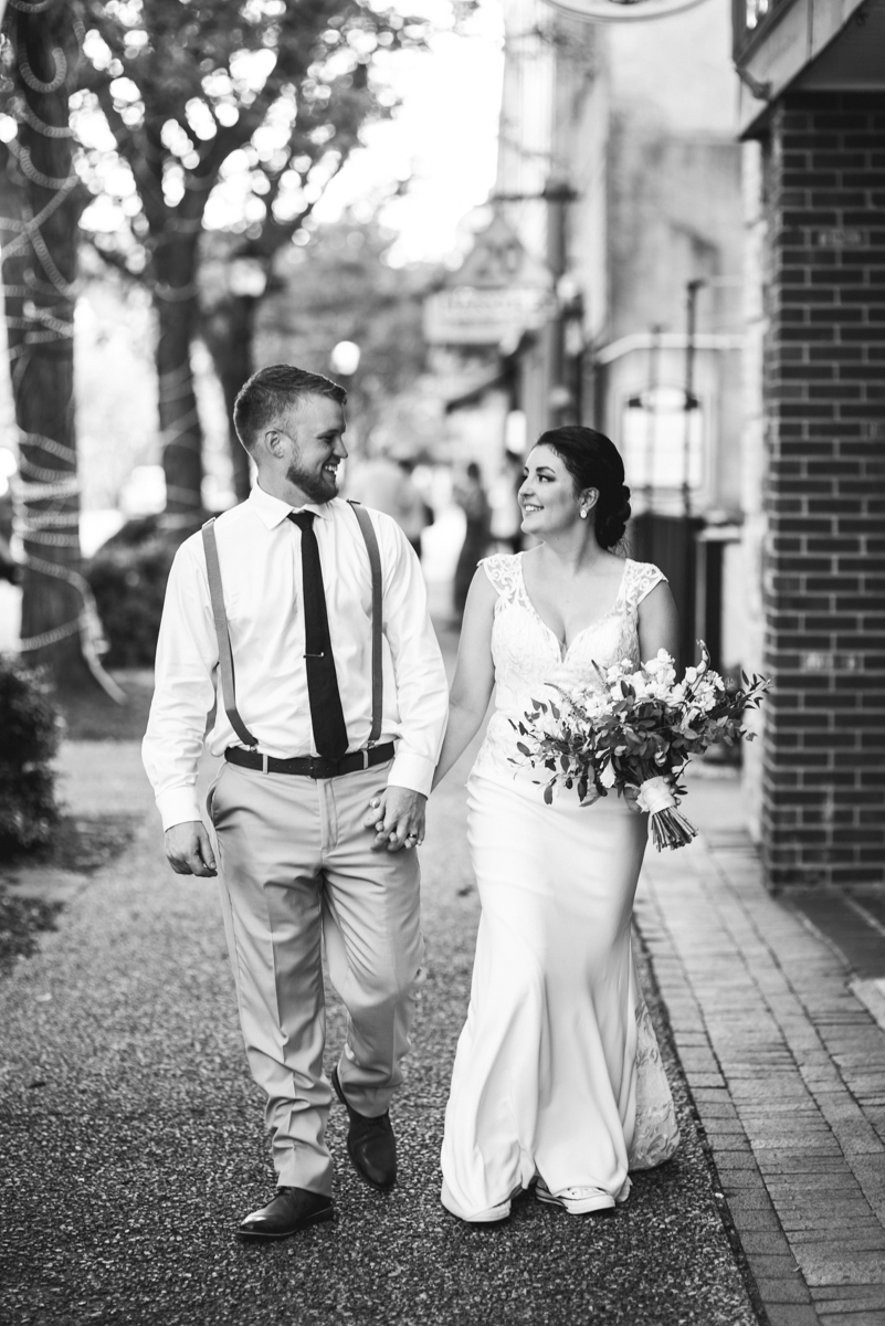 Minimalist White and Green Summer Wedding | Bride and Groom Sunset Portraits