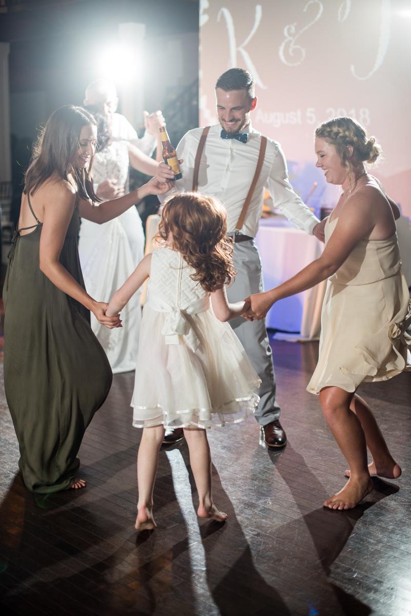 Minimalist White and Green Summer Wedding | Wedding Reception Dancing