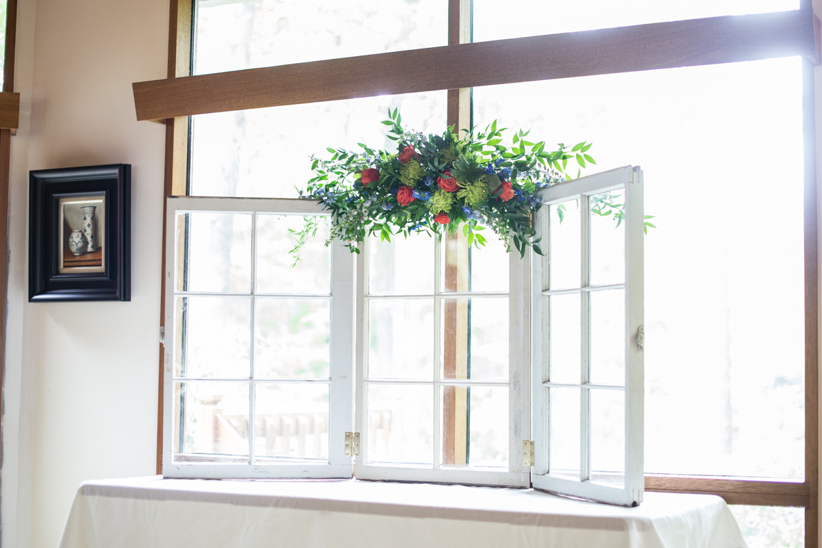 Scottish Themed Wedding with Burgundy, Navy, and Copper | Ceremony Windows