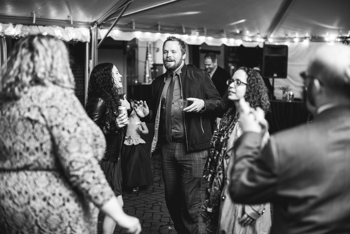 Gold, Blue, and Burgundy Fall Wedding | Wedding reception dancing