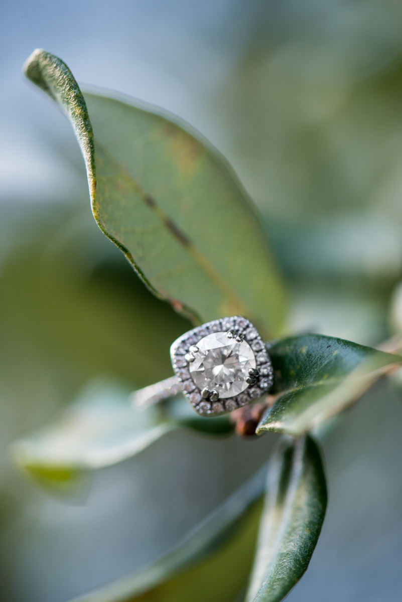 Sage Green Engagement Ring Shot