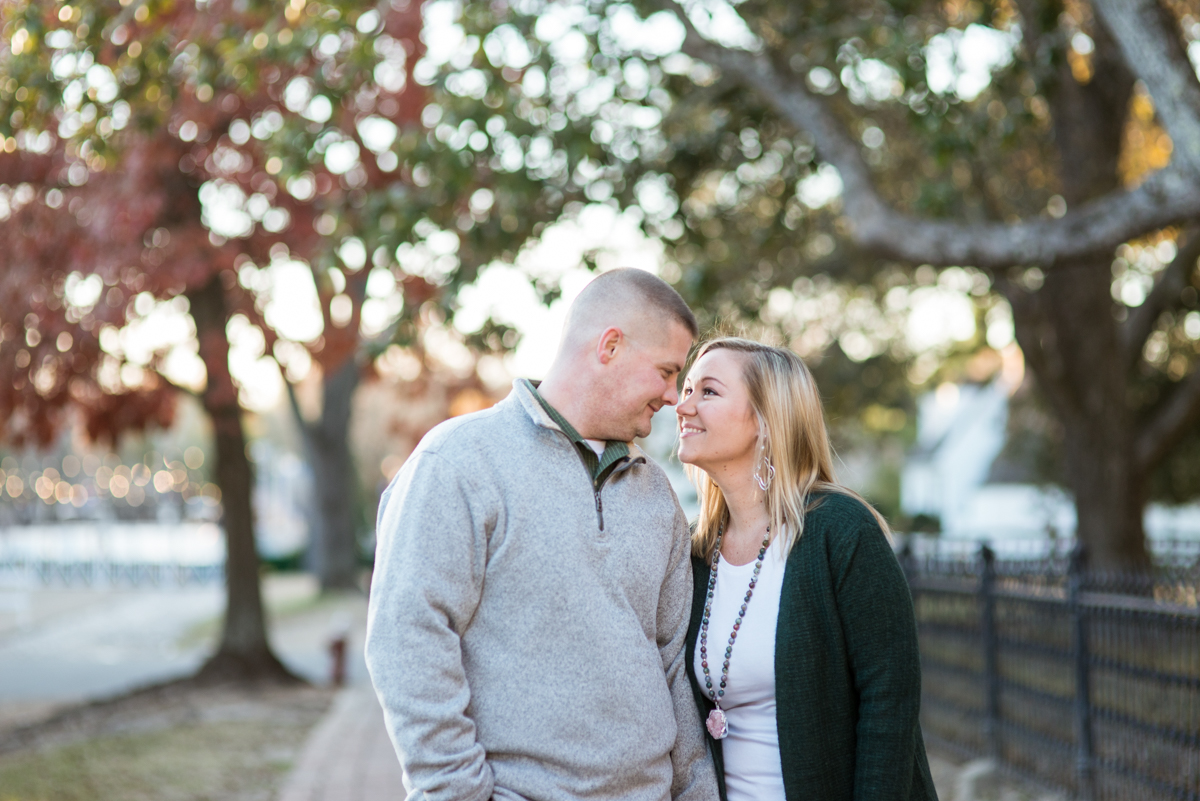 Christmas Themed Williamsburg Engagement Pictures
