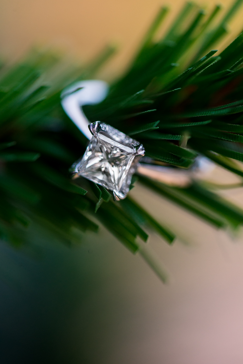 Christmas Tree Engagement Ring Picture