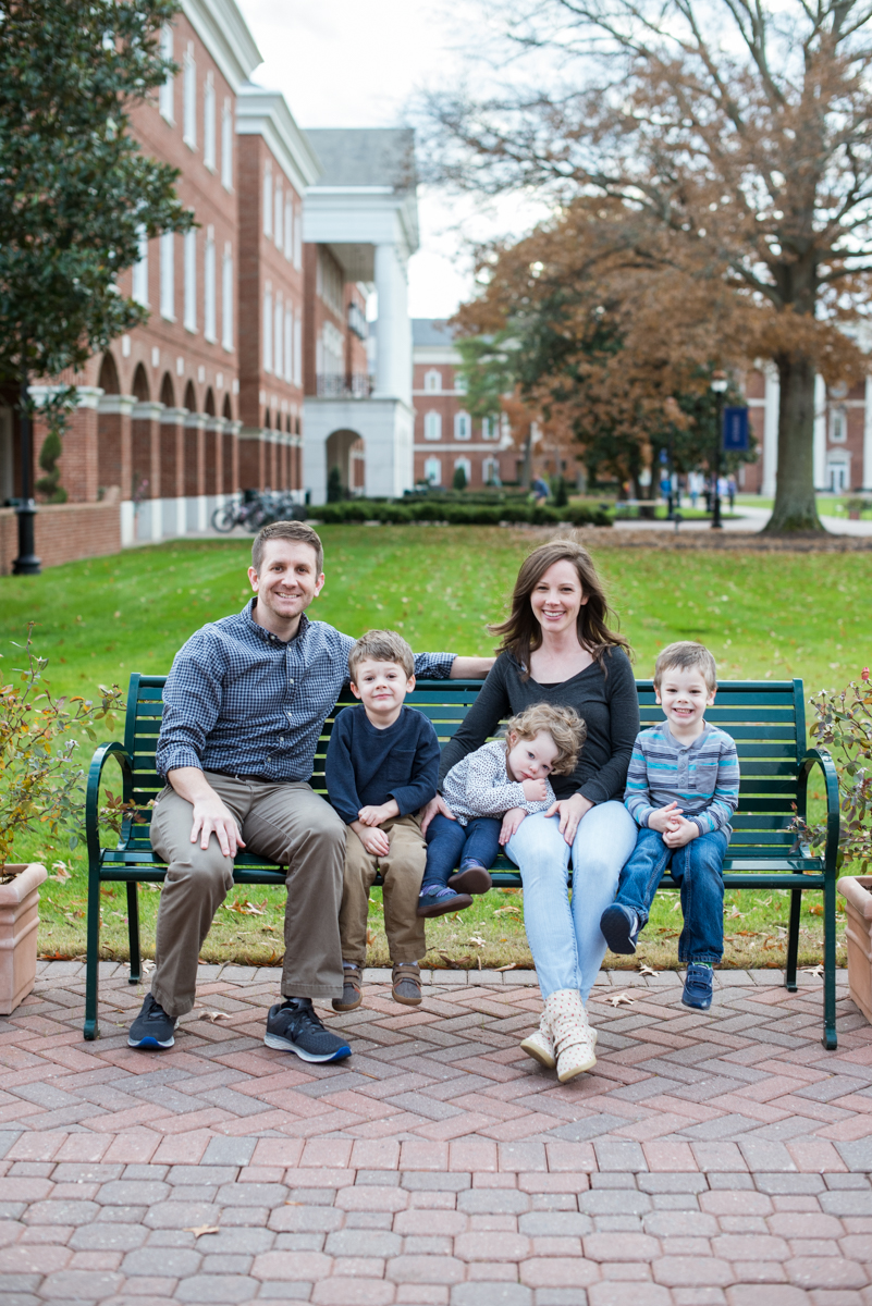 Family Pictures at a College Campus