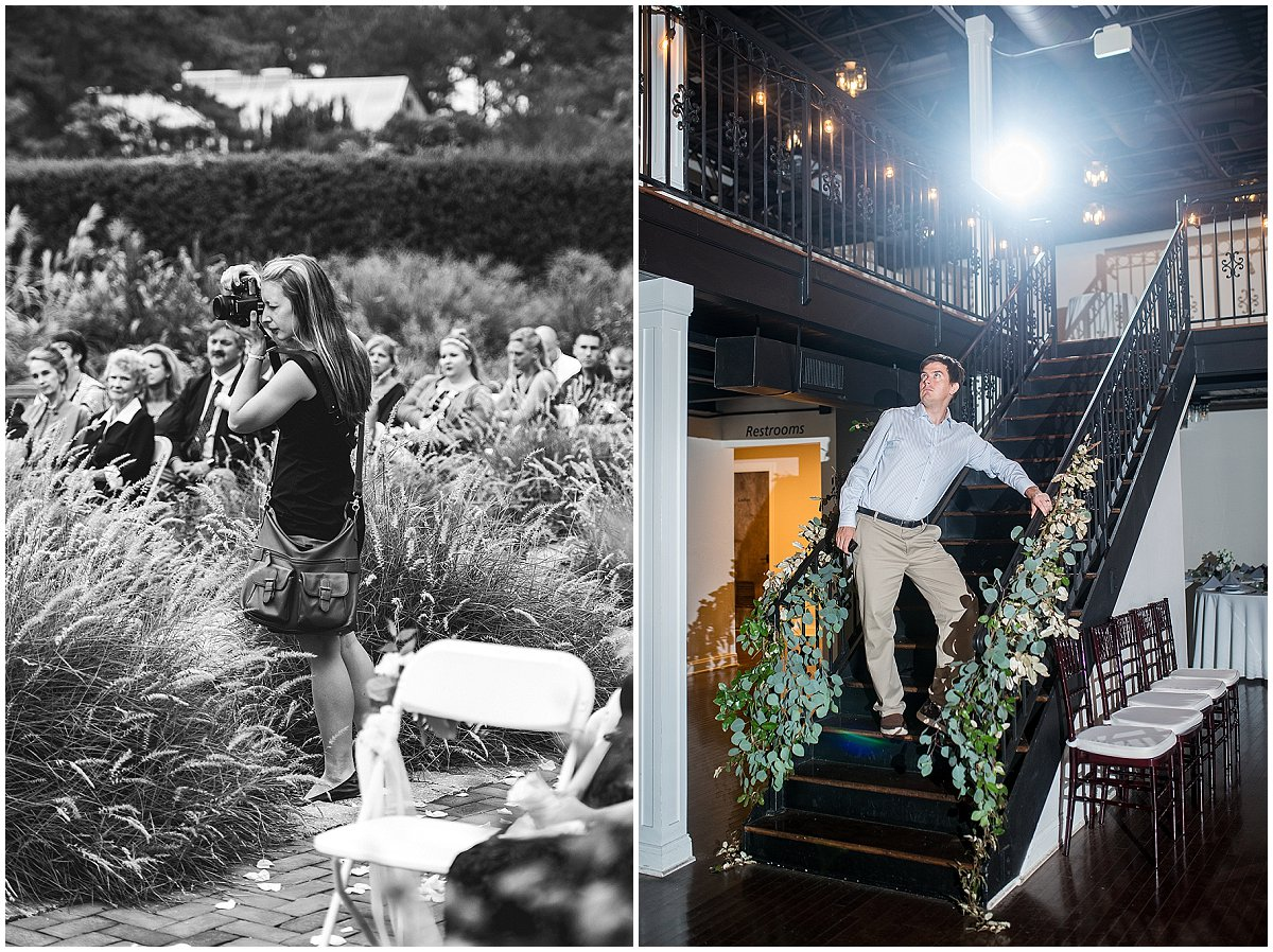 Sometimes we hide in the greenery at the ceremony. And sometimes…well sometimes we are in plain view!