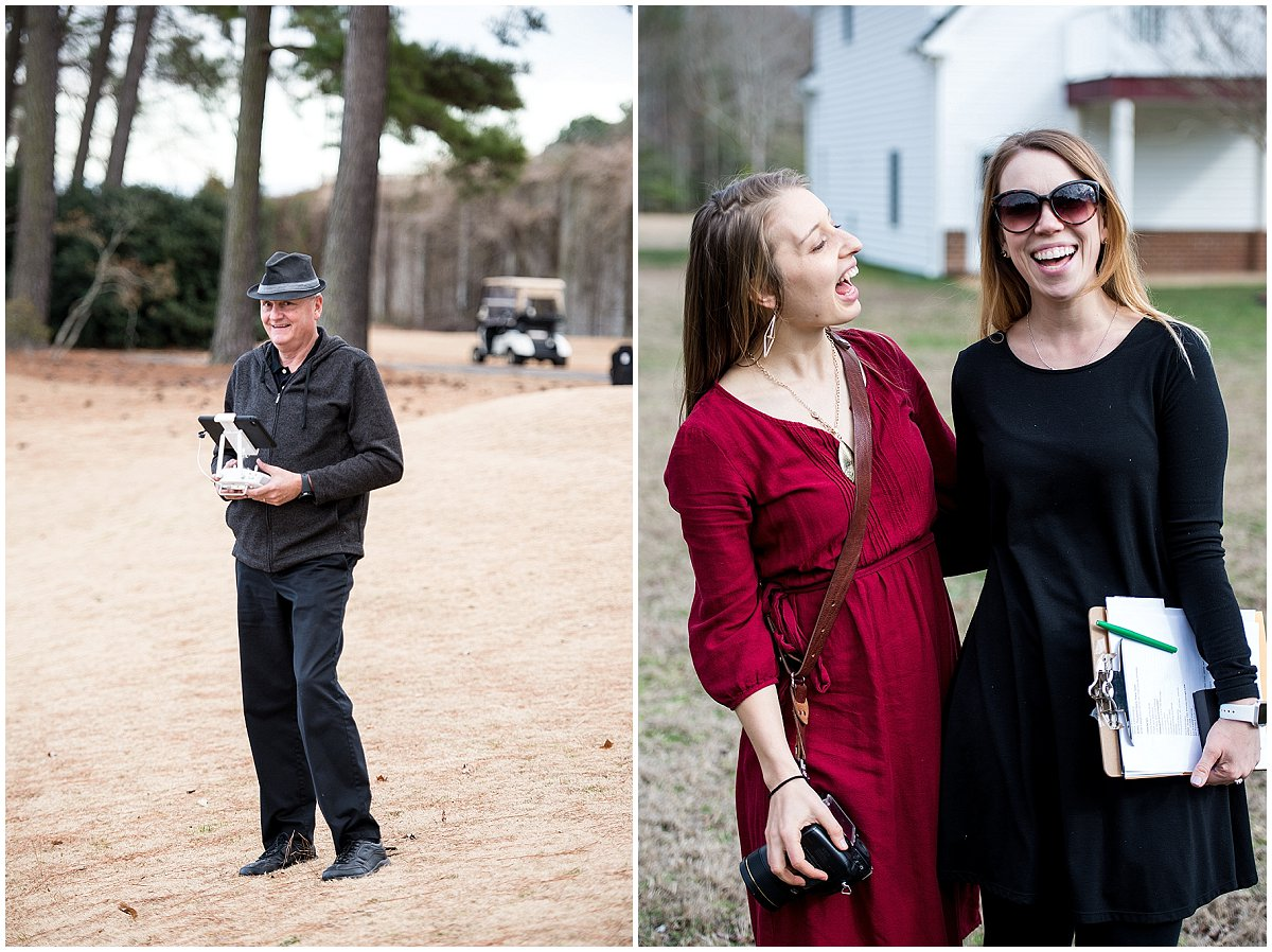 Friends at weddings are the best! Left: LNR Productions; Right: Sterling Dawn Events