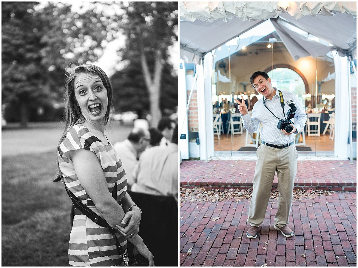 Two completely different weddings, exact same expression!