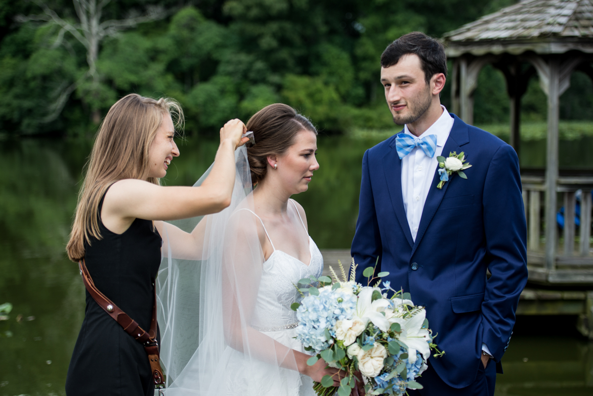 """""""Crouch down. Now move your head. No, a little to the left."""" <-I got the veil in, and that's all that matters!"""
