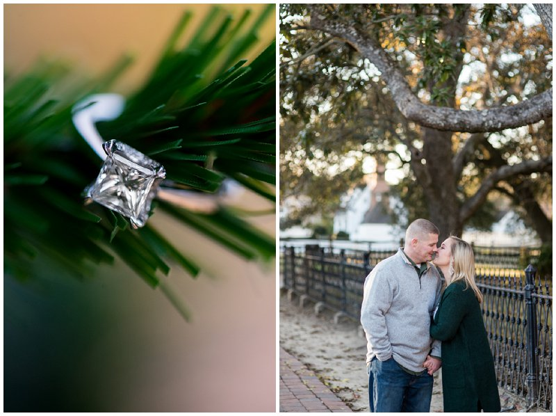 Christmas Themed Engagement Pictures