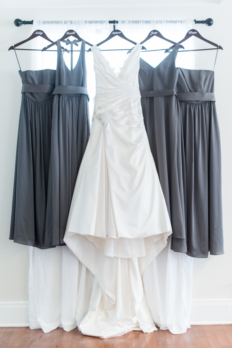 Gray and Blue Spring Wedding | Gray Bridesmaid Dresses