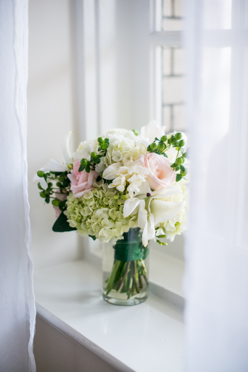 Gray and Blue Spring Wedding | White and Blush Wedding Bouquet