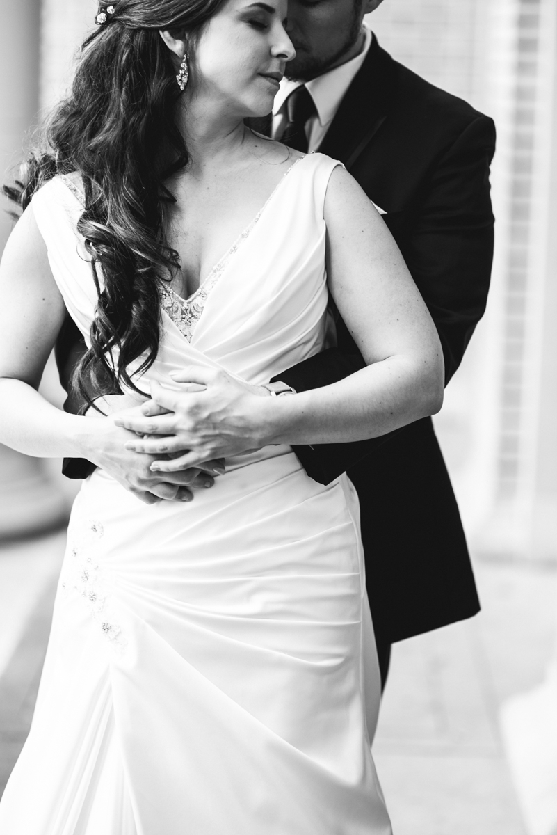 Gray and Blue Spring Wedding | Bride and Groom Portraits