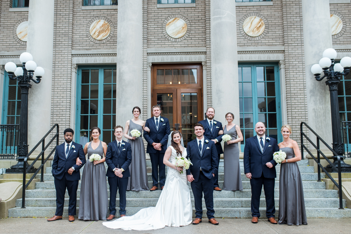 41319 Ryan Warthan + Stephanie Westbrook | Navy and Gray Bridal Party