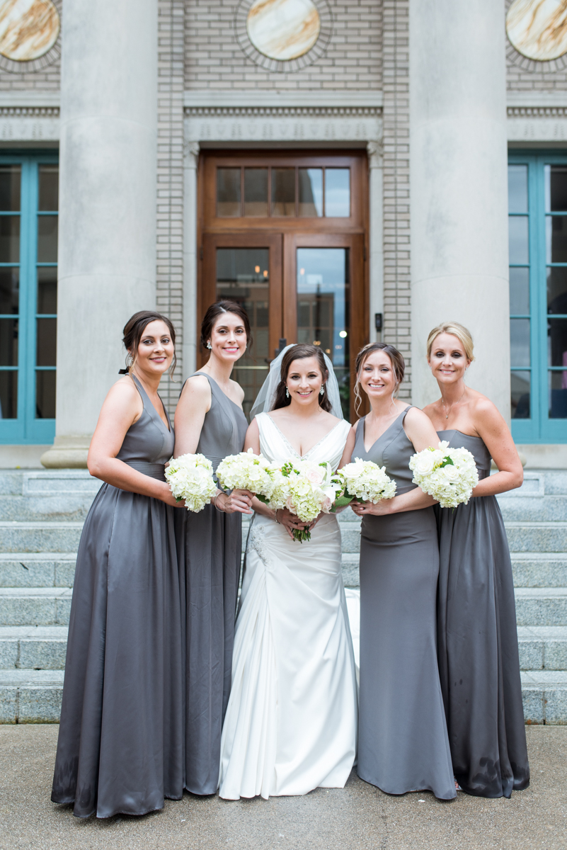 Navy and Gray Spring Wedding | Gray Bridesmaid Dresses