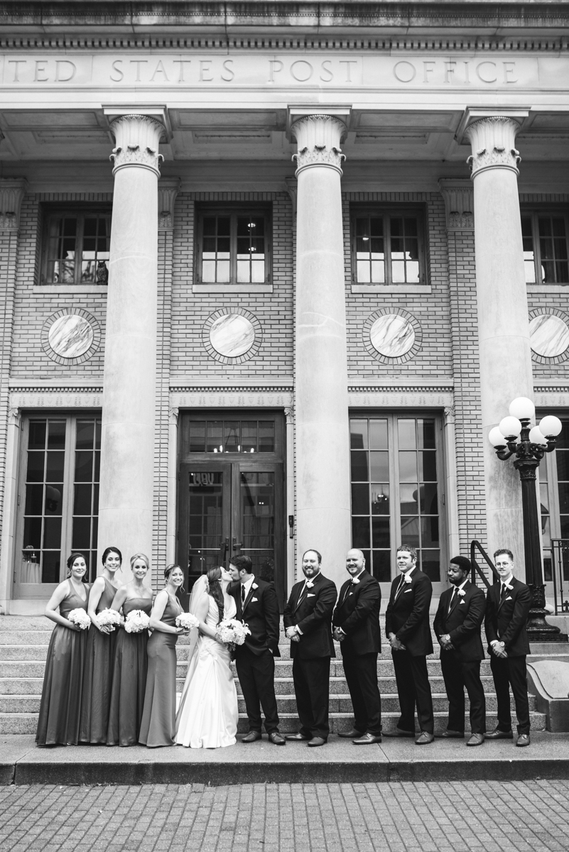 Navy and Gray Spring Wedding | Black and White Bridal Party