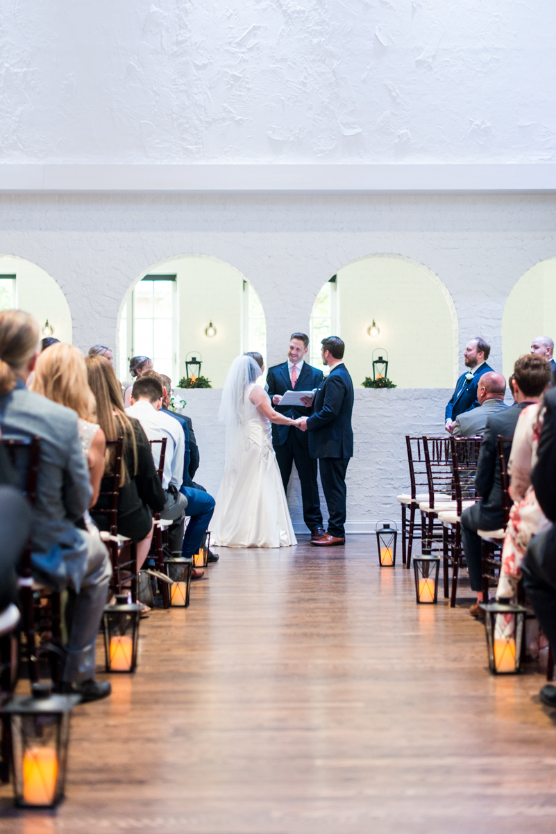Navy and Gray Spring Wedding | Wedding Ceremony