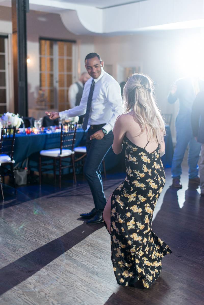 Navy and Gray Spring Wedding | Navy Wedding Reception