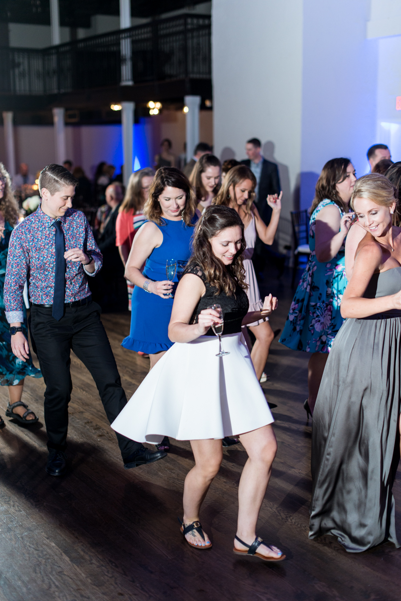 Navy and Gray Spring Wedding | Wedding Reception Dancing