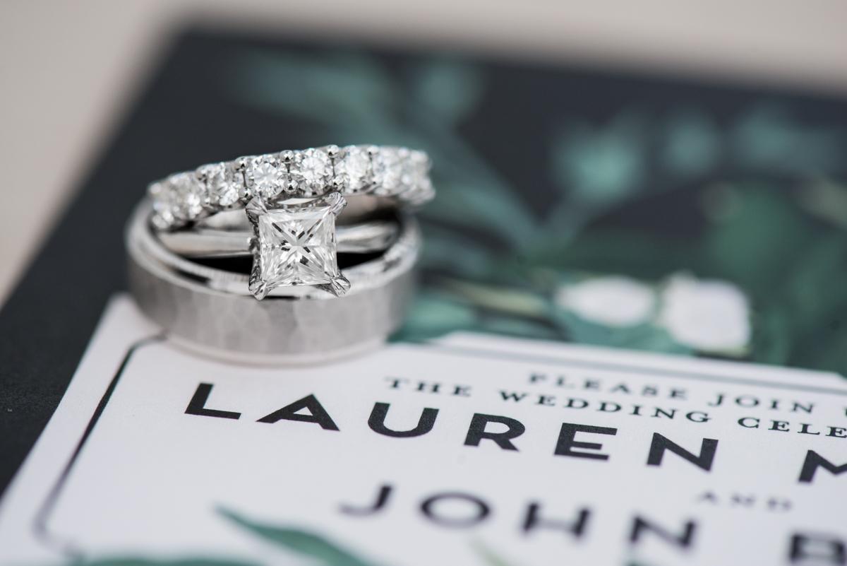 Elegant Summer Wedding in Smithfield, Virginia | Wedding ring invitation shot