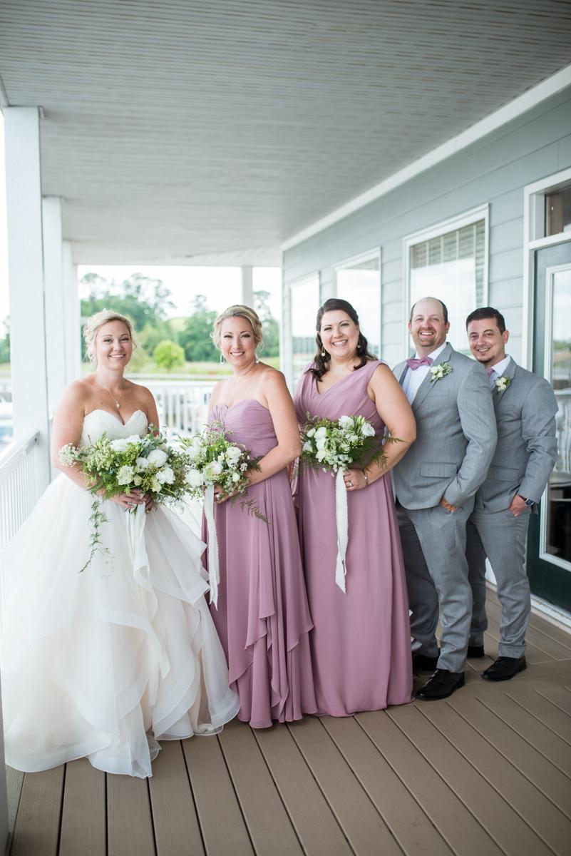 Elegant Summer Wedding in Smithfield, Virginia | Violet bridesmaid dresses