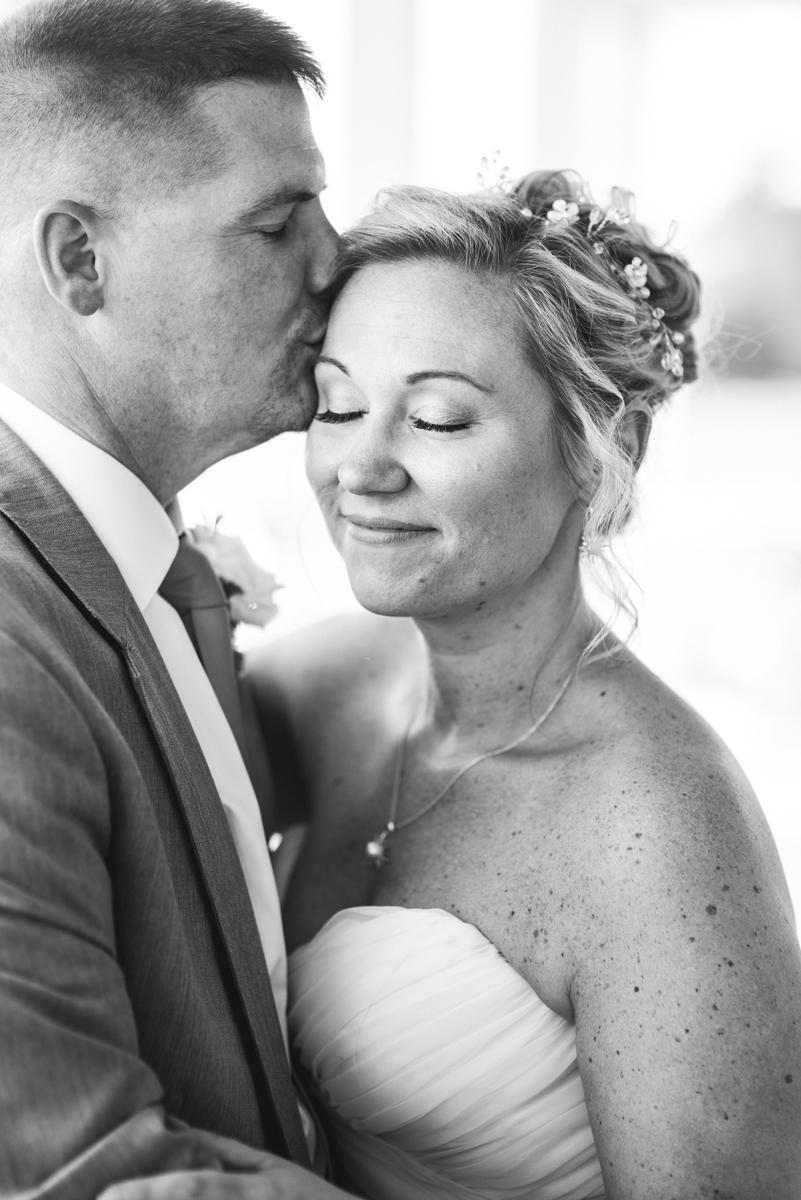 Elegant Summer Wedding in Smithfield, Virginia | Bride and groom first look portraits