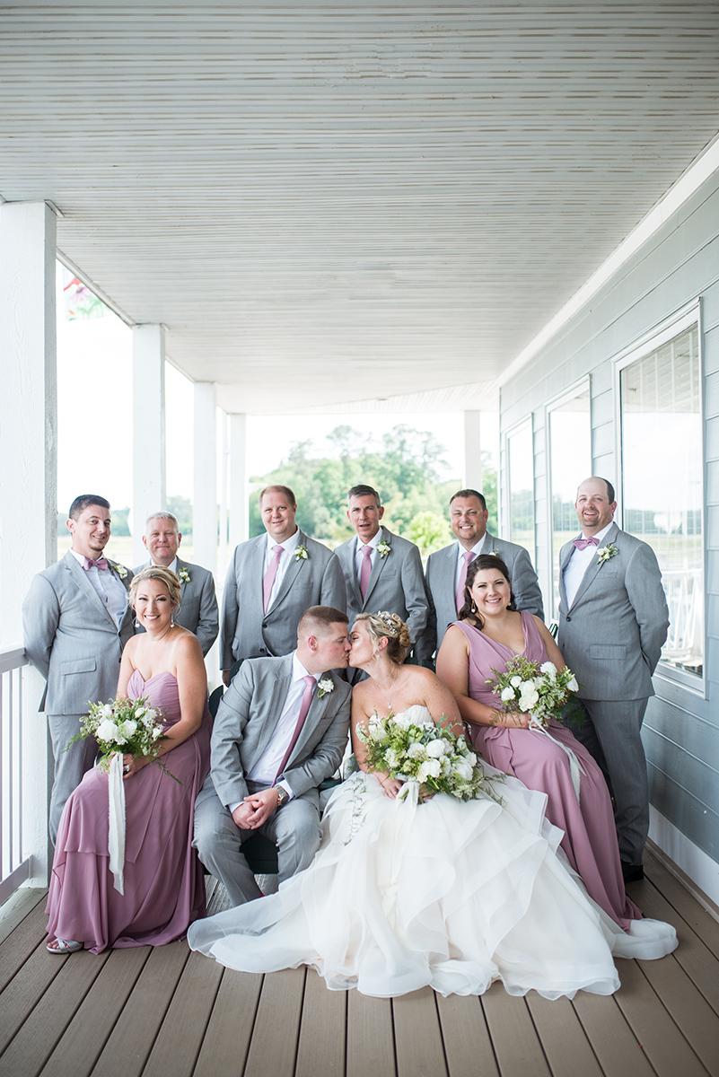 Elegant Summer Wedding in Smithfield, Virginia | Violet and gray bridal party