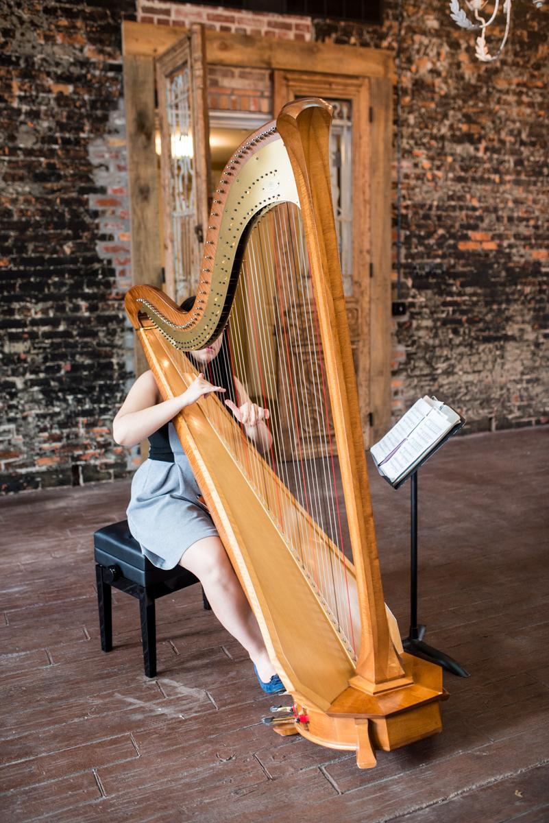 Elegant Summer Wedding in Smithfield, Virginia | Wedding harpist