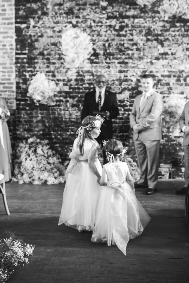 Elegant Summer Wedding in Smithfield, Virginia | Flower girls