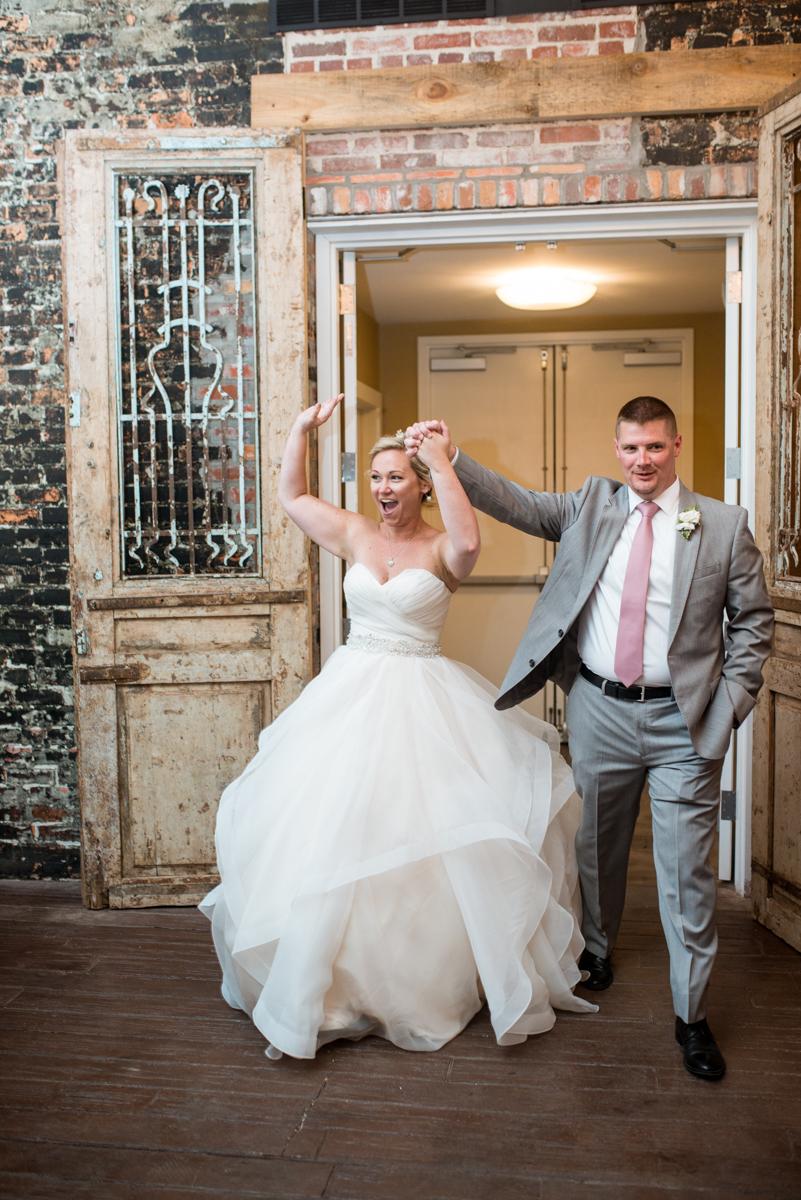 Elegant Summer Wedding in Smithfield, Virginia | Wedding reception grand entrance
